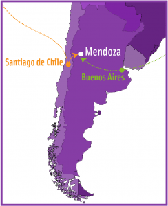 South America Map Travel to Mendoza Argentina